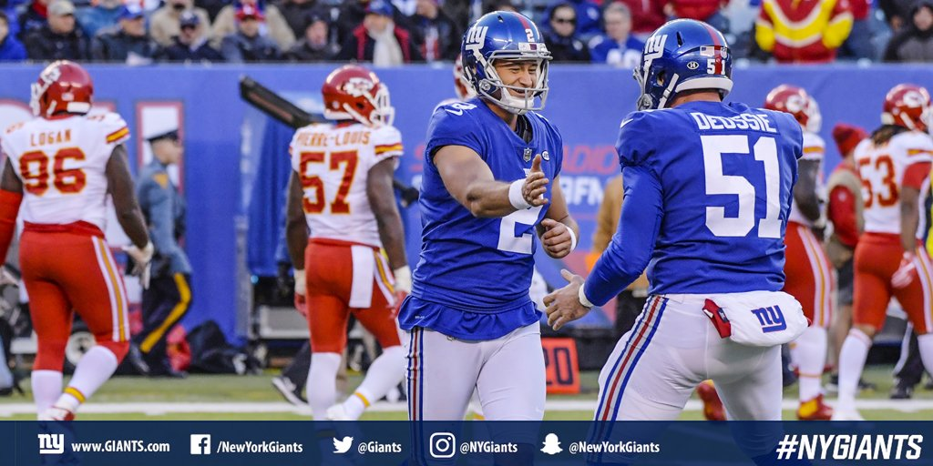 ICYMI: Aldrick Rosas drilled a 23-yard field goal in overtime to give Big Blue a 12-9 win over the Chiefs! #GiantsPride  WATCH: https://t.co/DpkugrQHVI https://t.co/soduNtiRlk