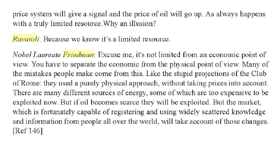 test Twitter Media - @BrankoMilan @SRSroccoReport At least @BrankoMilan is an open minded economist. M. Friedman would have already chastised degrowthers as heretics much before. Here an extract of an interview from Carla Ravaioli's  ECONOMISTS AND THE ENVIRONMENT: (via @gelderon52 ) #Degrowth  #Peakoil https://t.co/jNyQKsXcXD