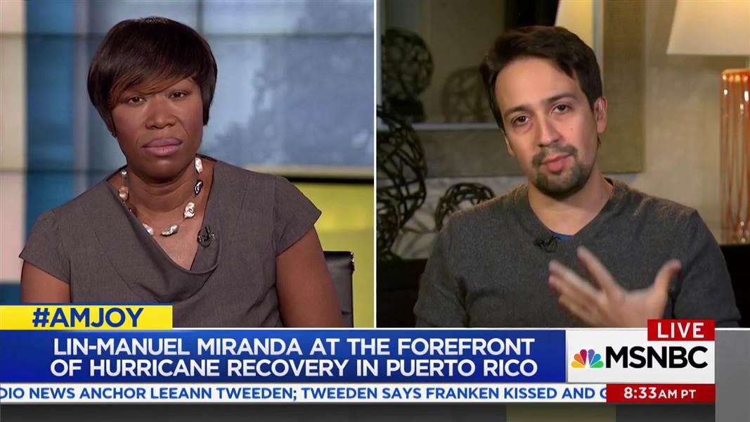 Lin-Manuel Miranda calls for debt forgiveness for Puerto Rico