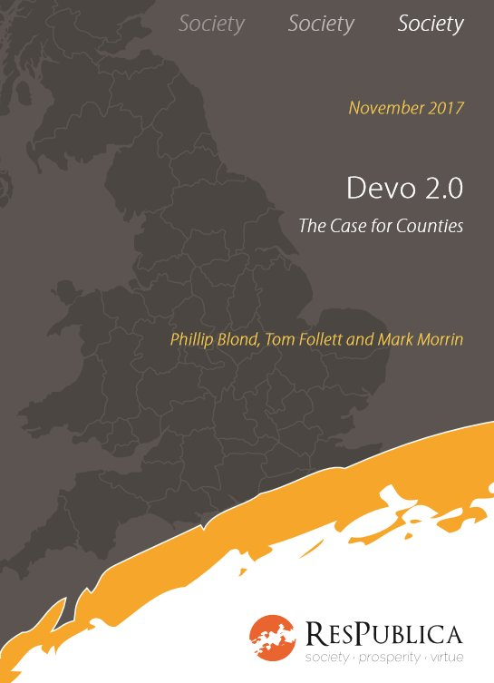 NEW REPORT > Devo 2.0: The Case for Counties by @Phillip_Blond @MarkMorrin @tomfollett https://t.co/jSOtpbtwTf https://t.co/NHWMH9Cu4g