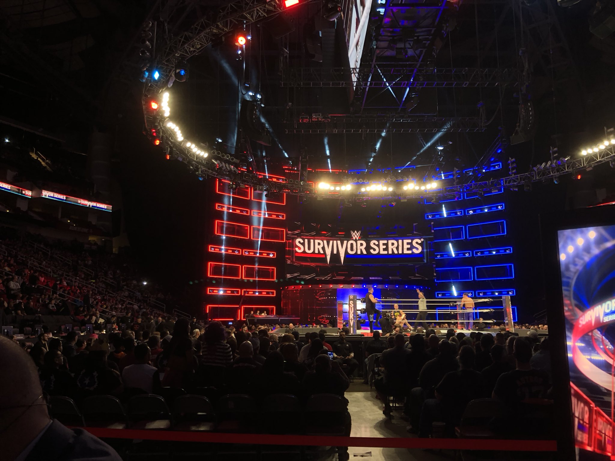 Gotta say, this Pre-Show gig get's ya a pretty good view!!! #SurvivorSeries https://t.co/wkXPjGIirY