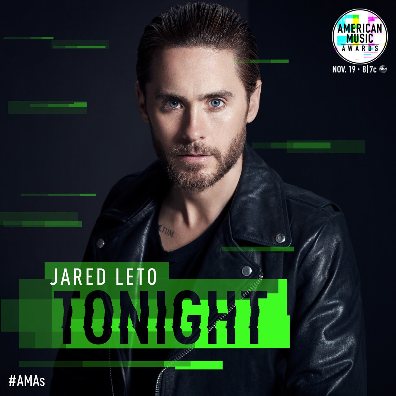 Tonight's the night. Tune in to see our very own @JaredLeto presenting at this year's #AMAs, 8|7c on ABC. https://t.co/gdT25eD0x9