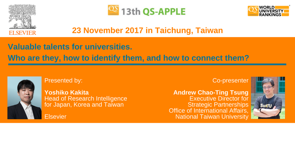 test Twitter Media - Find how universities can identify talent at their institutions in the @qs_apple session with Elsevier's Yoshiko Kakita & NTU's Andrew Chao-Ting Tsung. Join & find @scopus data behind @worlduniranking #QSapple #qswur. https://t.co/fVDeO3Nhz6 https://t.co/K8b3ixaAqj
