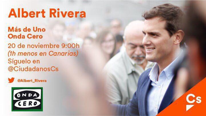 A partir de las 9h me entrevista @carlos__alsina en @MasDeUno @OndaCero_es. Os espero.
