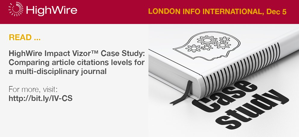 test Twitter Media - Ahead of @DanFilby presenting at #LII2017, read our Impact Vizor case study on comparing article citations levels for a multi-disciplinary journal. Read: https://t.co/PkqXpmZyuf  Impact Vizor is part of the Intelligent Publishing Platform, ask us about this at stand #28, #LII2017 https://t.co/Q6WwWkVXRl