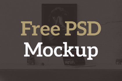 Free Interior Poster Mockup Mock_ups freebies design MarameStudio