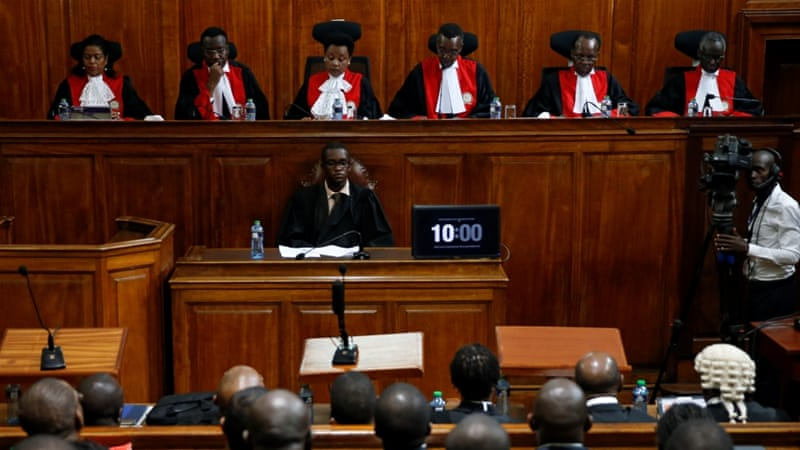 Kenya's Supreme Court unanimously upholds the October rerun of the presidential election