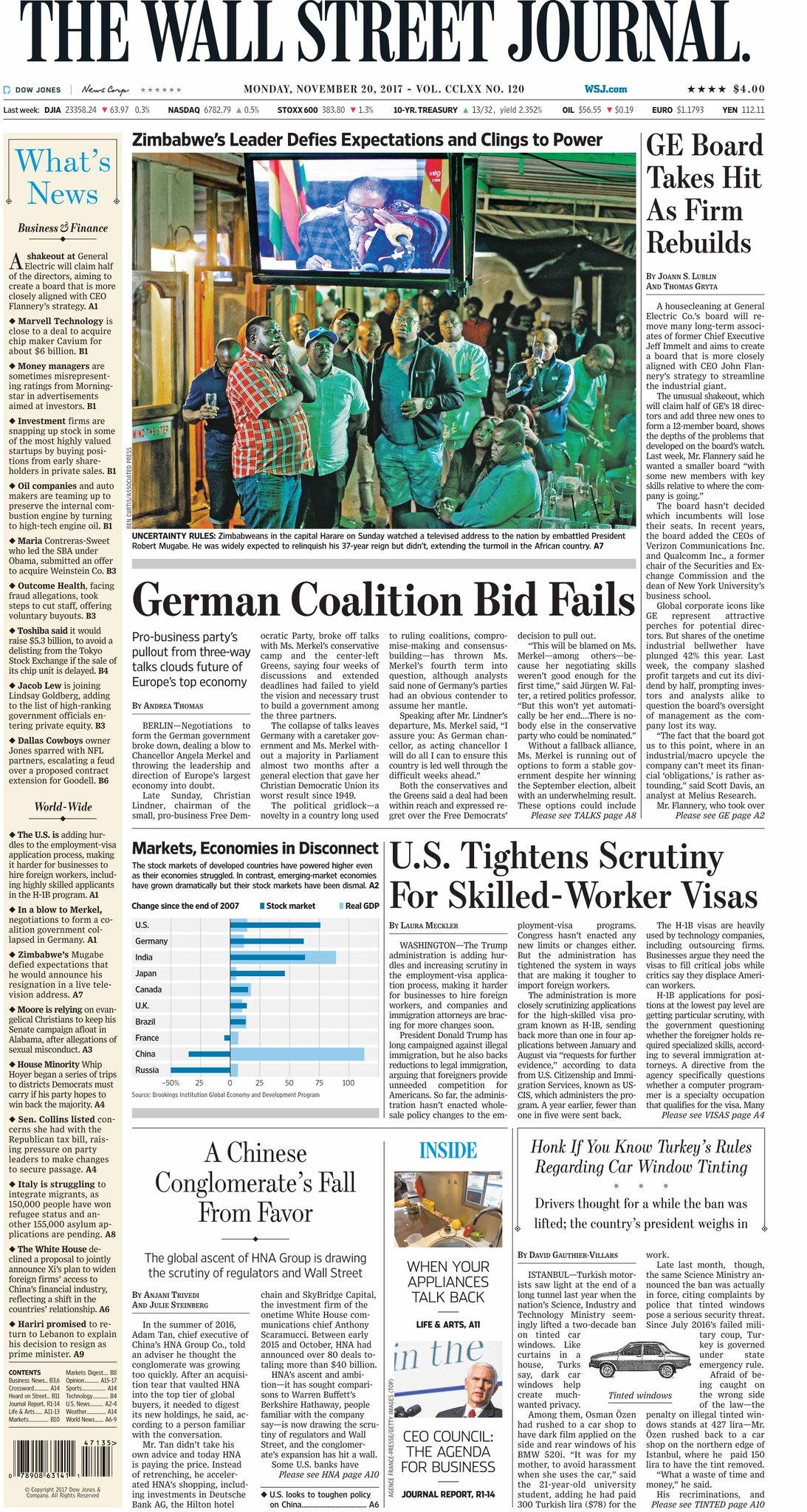 Take an early look at the front page of The Wall Street Journal    https://t.co/5xQPDPcm8q https://t.co/PWt6zbDNbl