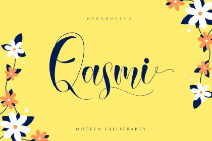 Qasmi Script Font Demo Fonts Script Freebies FreeResources FreeDownload