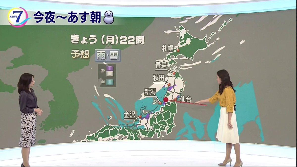 【N7・渡辺蘭の気象つぶやき】 今夜は北陸の山沿いや東北で雪がまた強まる予想で、さらに雪の量が増えそう。落雷や突風にも注意して下さい。日本海側の雪はあす日中いったん止みそうですが、この先も再び大雪のおそれがあります。