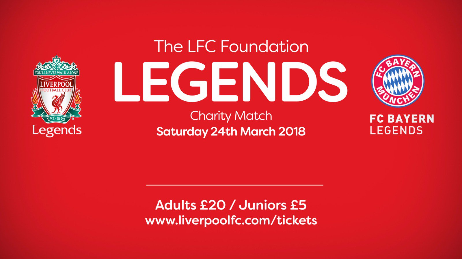 Gerrard, Alonso, Kuyt and many more... ⚽  Don't miss #LFCFCBLegends: https://t.co/PFu6MJPpSO https://t.co/9TcOTxd64R