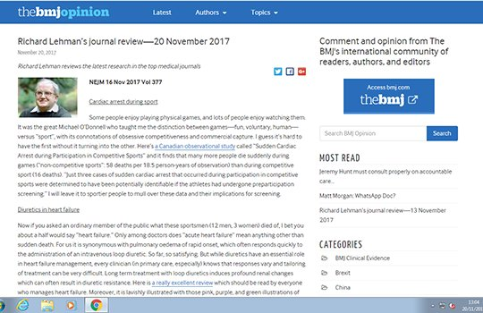 "test Twitter Media - What is the distinction between games versus ""sport?"" @RichardLehman1 has the answer in his weekly research reviews, as he mulls over data on cardiac arrest during sport & their implications for screening https://t.co/0U4e5wOFC8 https://t.co/NjPS4KzEjs"