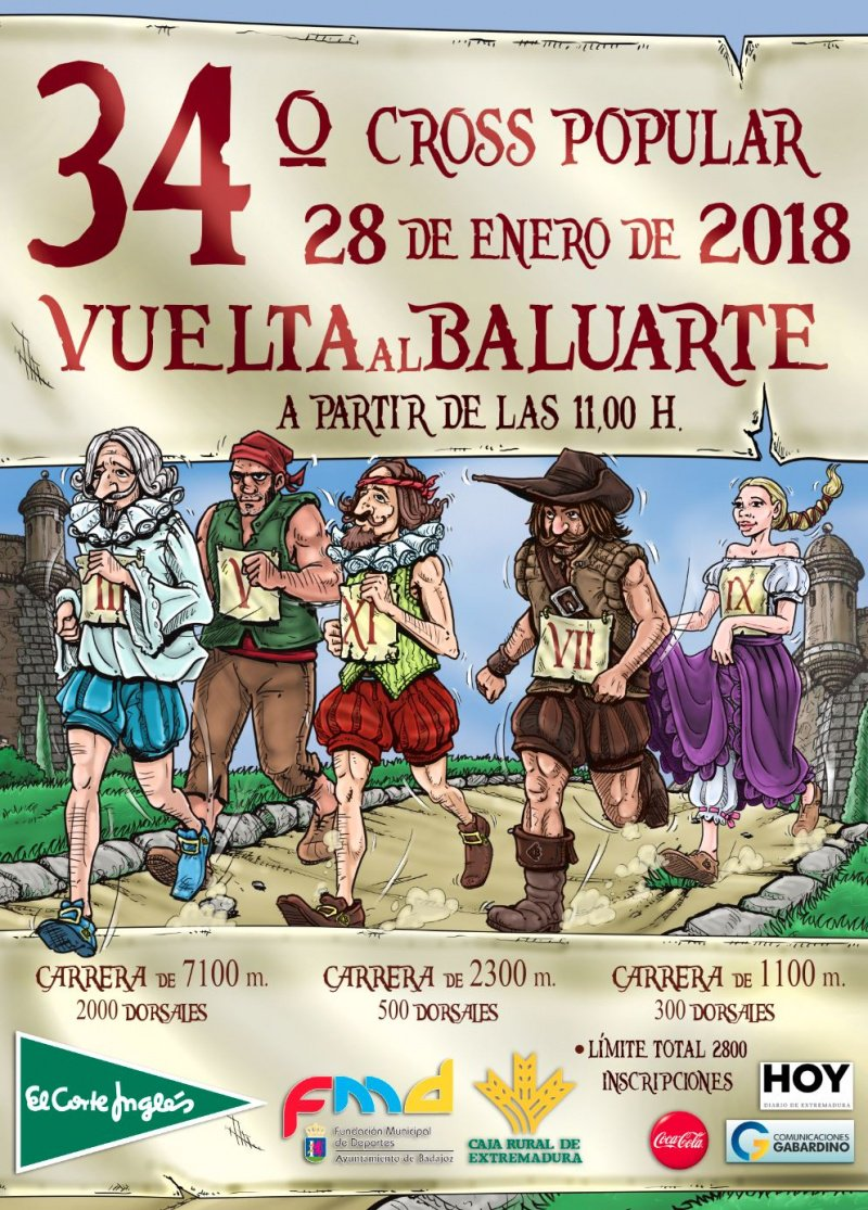 Ya están disponibles las inscripciones para el 34º Cross Popular 'Vuelta al Baluarte' https://t.co/aRw2WWd2Go https://t.co/dlZIhk8pcY