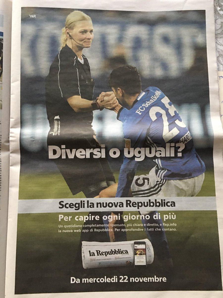La #Repubblica in Italia fa pubblicità con #Steinhaus e #Schalke https://t.co/EMiv088Rex