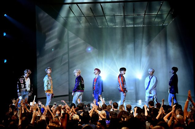 Stars react to BTS' debut #AMAs performance https://t.co/79KGaCqyEj https://t.co/X2wrWykNjB