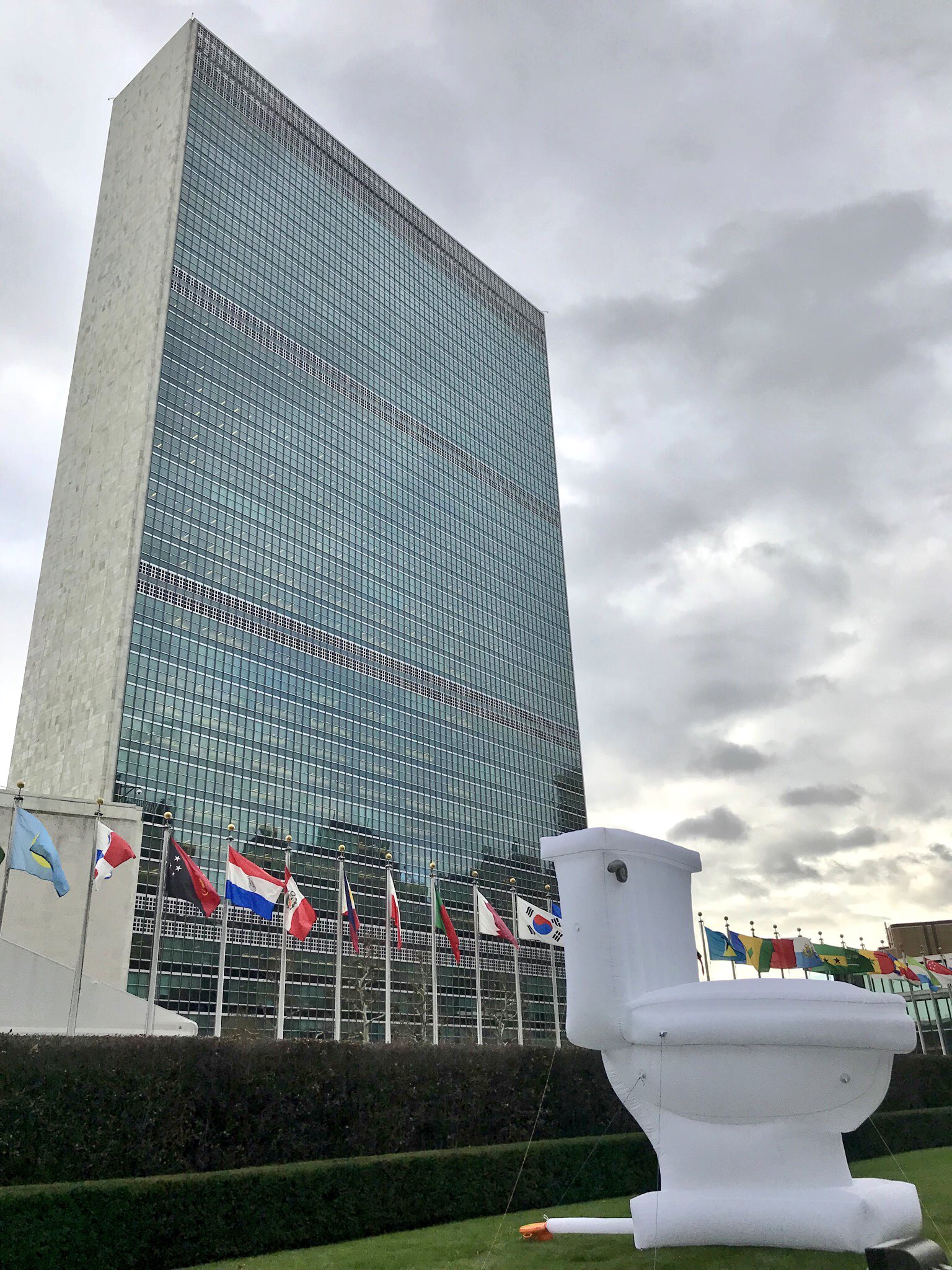 Why is there a giant �� in front of UN Headquarters in NYC?   Find out here: https://t.co/PNzplfm5qW https://t.co/I31jCVPE3y