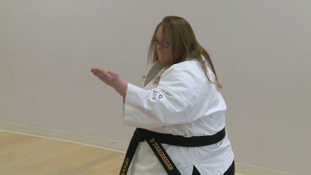 Special Olympian trains for her fourth-degree black belt in karate