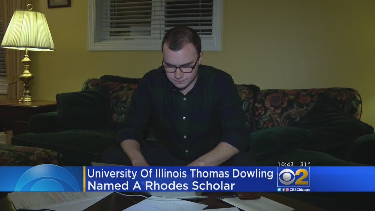 University Of Illinois Student Named Rhodes Scholar