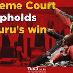 Maraga rules in favour of Uhuru Kenyatta