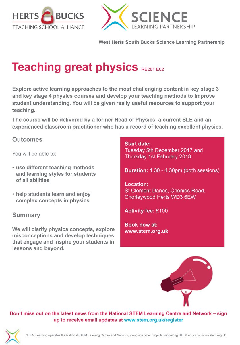 The second session of TSST Physics is today. If you would like to explore approaches to the most challenging content in KS3 & KS4 Physics, we have a 2 part twilight course starting next month https://t.co/LQO0Z24XLz https://t.co/OxivLwbHi1