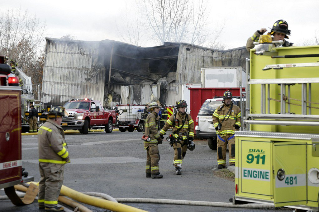 New Windsor, New York, warehouse fire leaves dozens injured