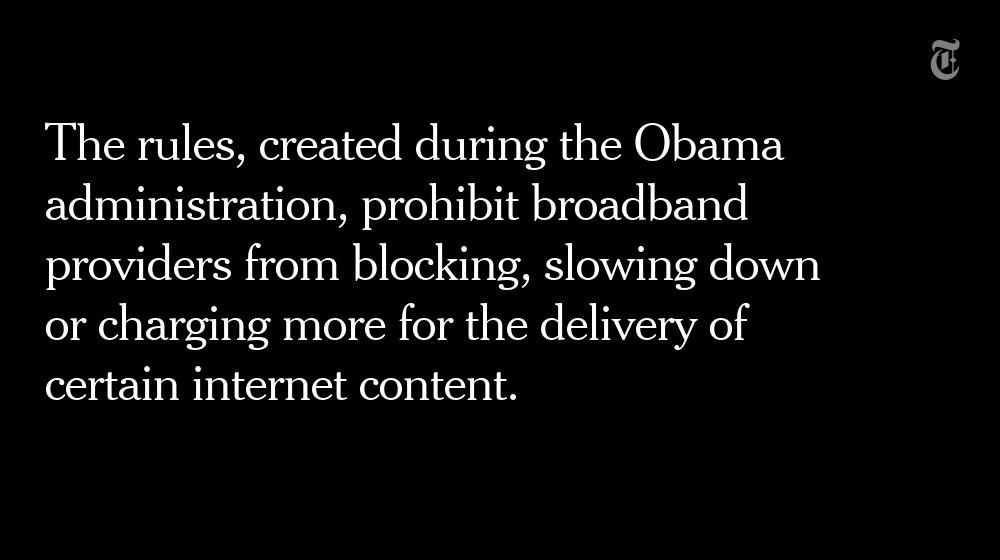 The FCC is preparing a full repeal of net neutrality rules https://t.co/XL1pKLMiM2 https://t.co/HDhdMjgLWy