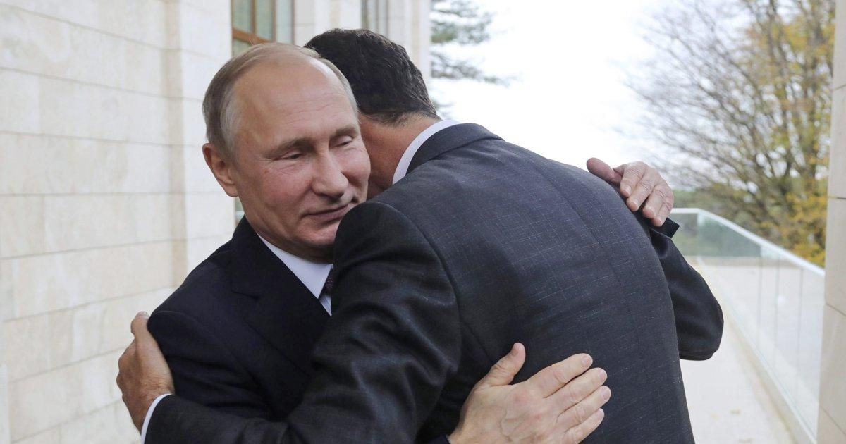 Bashar Assad hugs Putin as they declare victory in Syria https://t.co/ZiHMWAOevj https://t.co/7nzE84Lafa