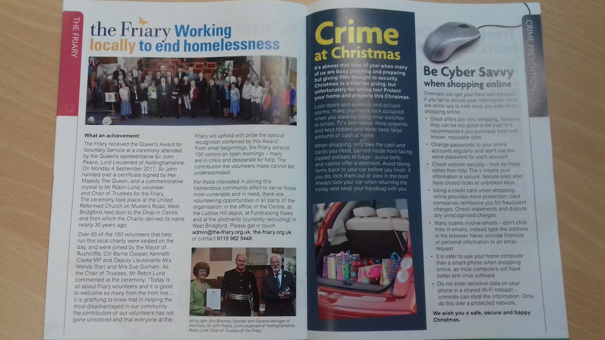 test Twitter Media - Great article in @Rushcliffe Reports about @theFriary88 being awarded the Queen's Award for Voluntary Service! #volunteering #WestBridgford #charity #charitytuesday #Nottingham #QueensAward https://t.co/iyx2ZoSeyt