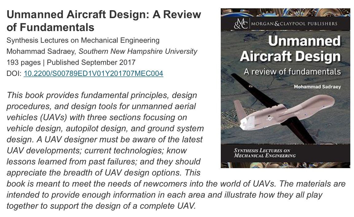 test Twitter Media - New ebooks from @MorganClaypool include #UnmannedAircraft Design: A Review of Fundamentals. This and related titles from their series Synthesis Lectures on #MechanicalEngineering are available from sales@burgundyservices.com https://t.co/0IPF6A9c5E