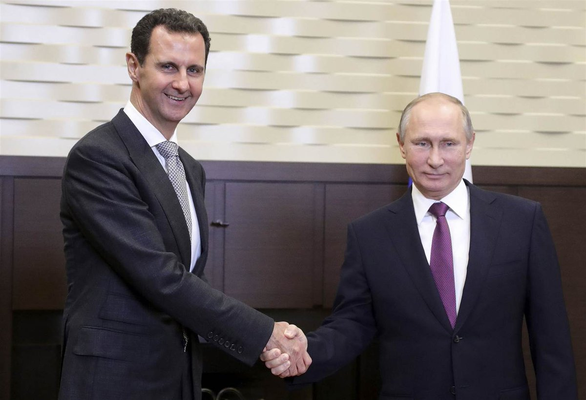 "Putin salutes his generals for ""saving Syria"" as Assad visits Russia"