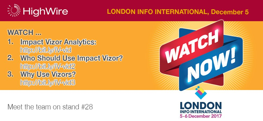 test Twitter Media - #LII2017: Watch our our Vizor Suite films here https://t.co/7PGvPtoUn3 :  1: https://t.co/zpU68e4D8s 2: https://t.co/r2E0Y7E6nk 3: https://t.co/MTuoREqKvO   Impact Vizor is part of the Intelligent Publishing Platform. Ask us about it at stand #28, London Info International https://t.co/Xa0dsXyoAy