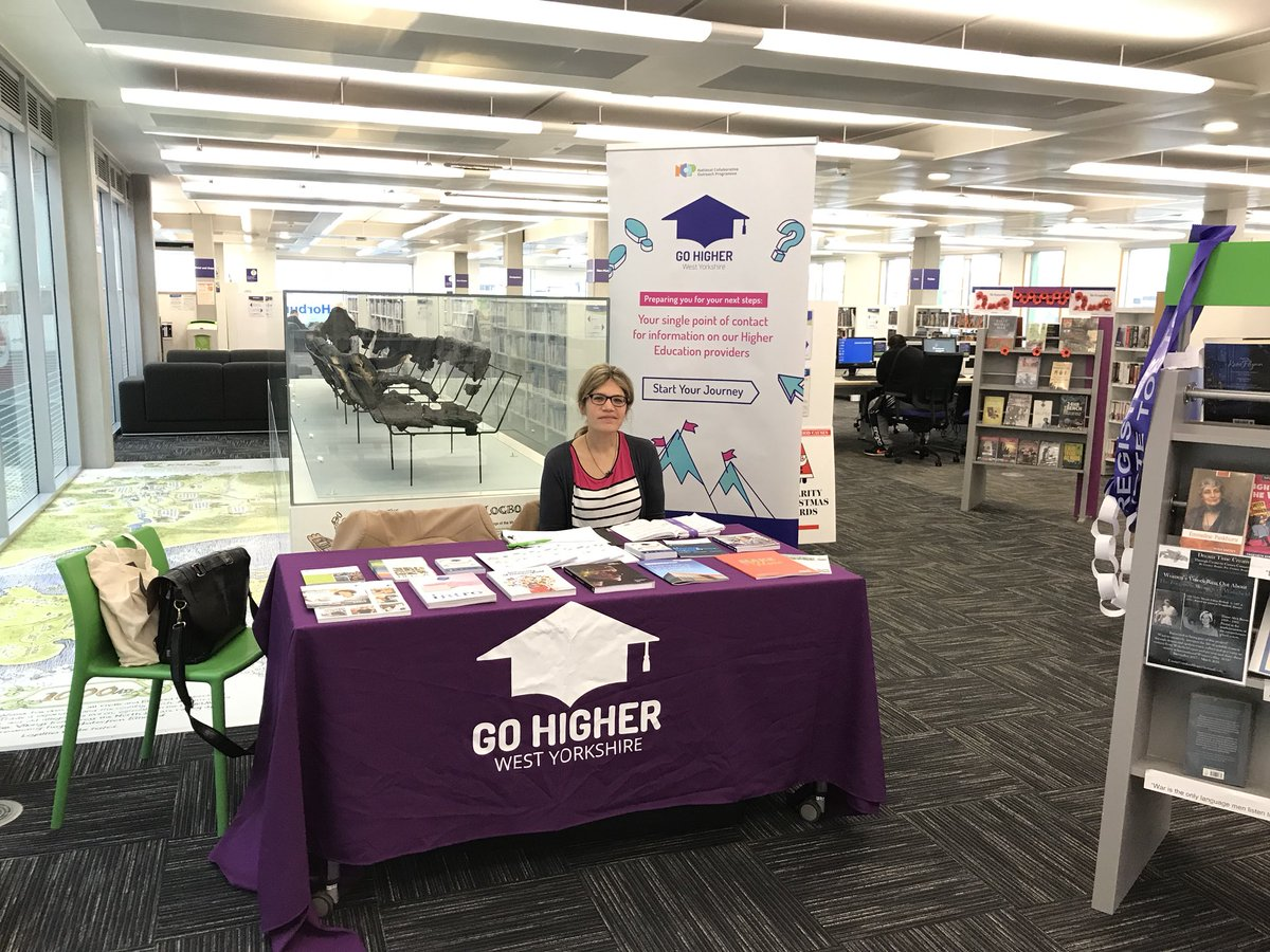 test Twitter Media - Sian from @kirkleescollege and Laura from @HuddersfieldUni will be at Wakefield Library from 10am-12pm! Pop over for a chat & to find out more about Higher Education 🎓 @GoHigherWY #startyourjourney https://t.co/Dr28VOQH2y