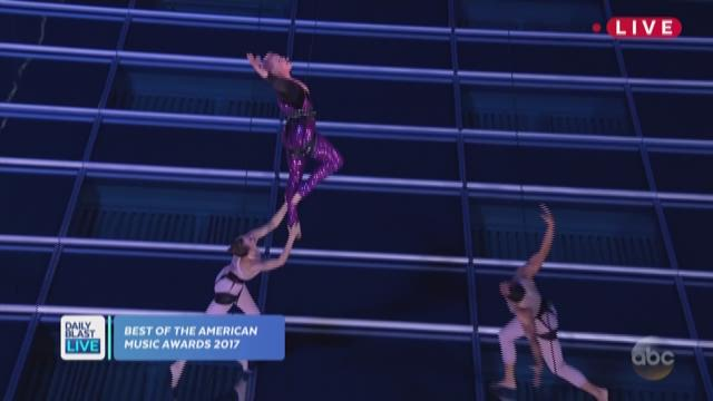 People are talking about Pink's high-flying AMA performance