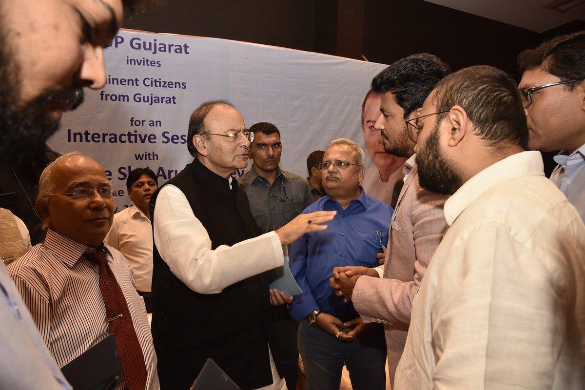 Addressing eminent citizens in Ahmedabad, Gujarat, November 20, 2017