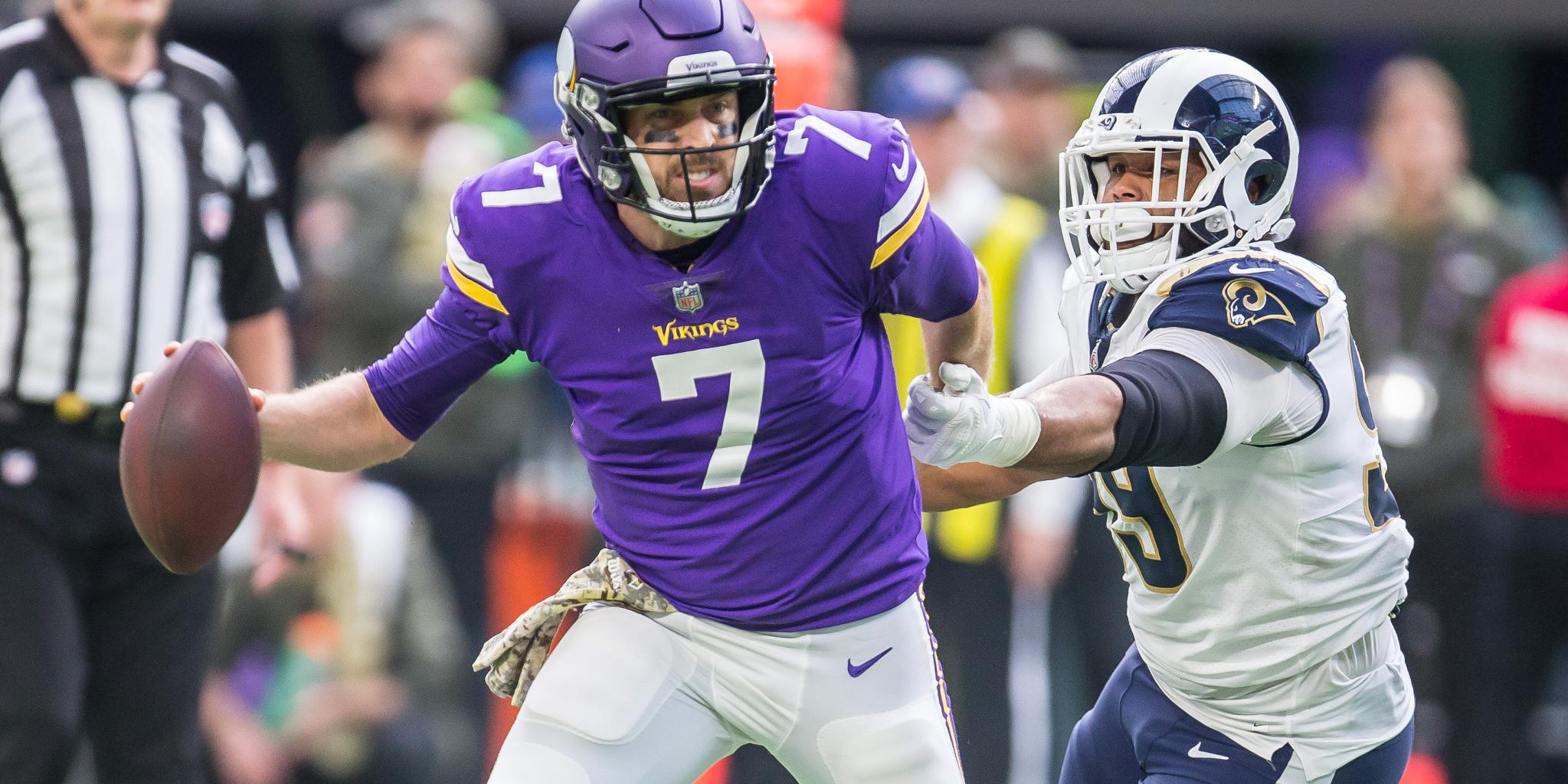 """'It's going to be hard to yank (@casekeenum7) out of there right now."""" https://t.co/EK5QyFzsQm https://t.co/as3sOfrxuz"""