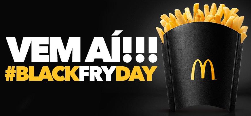 Aguarde! A #BlackFryDay do McDonald's está chegando. #BlackFriday