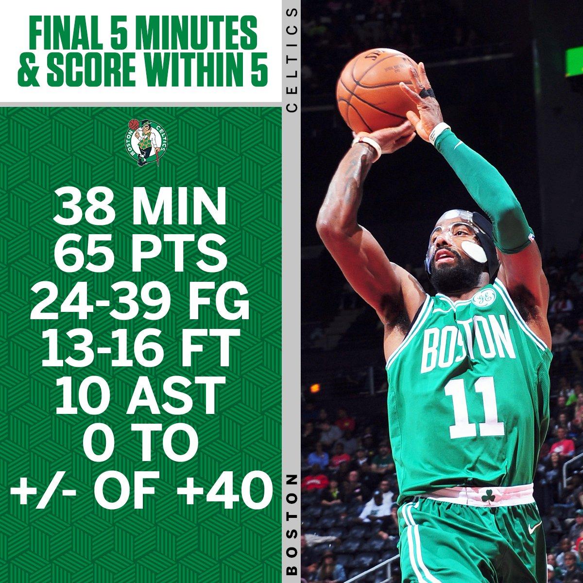 Kyrie Irving has put the Celtics on his back. https://t.co/OrzpVbuQut