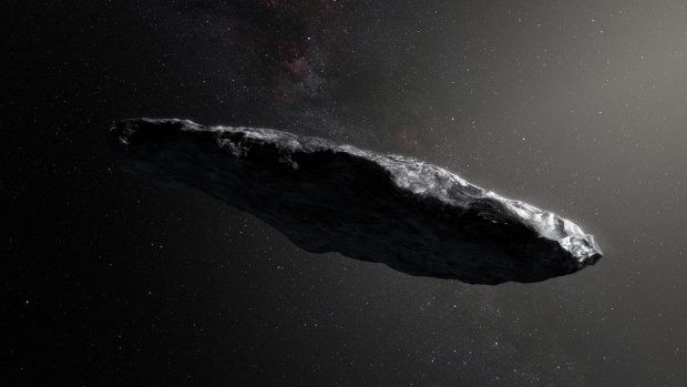 Cigar-shaped asteroid is a vis