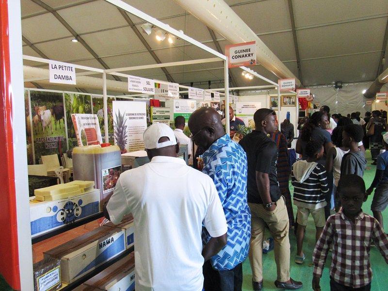 Forte affluence autour des produits de la Guinée au Salon de l'Agriculture à Abidjan