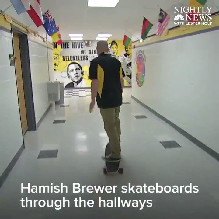 TONIGHT on @NBCNightlyNews Meet the skateboarding, tattooed principal who is changing his students' lives.