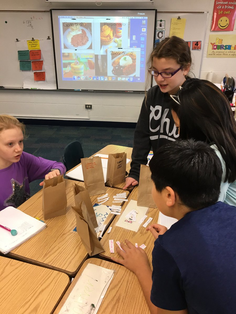 test Twitter Media - @wescott5B reads clues to determine the ingredients and figure out which cultural food it is. Thanks @dkarnoscak for the idea #earlylang #d30learns #langchat https://t.co/eatSgfu1b1