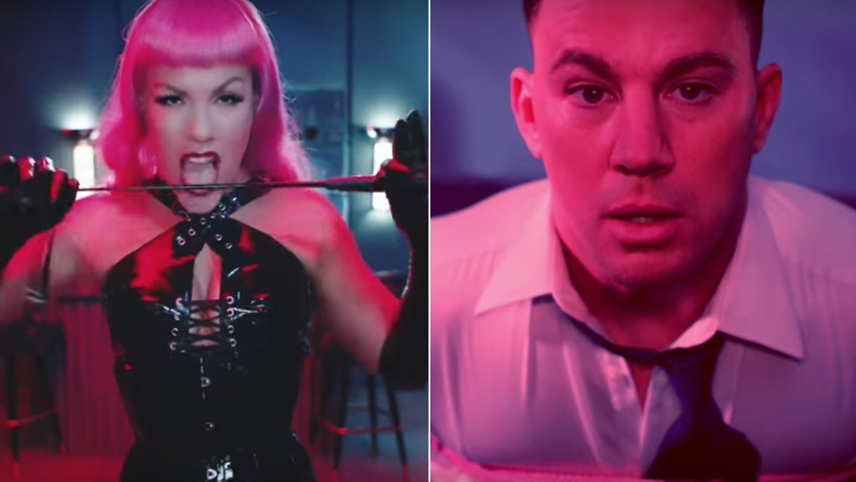 P!nk Goes All Fifty Shades Of Gray On Channing Tatum In New Video