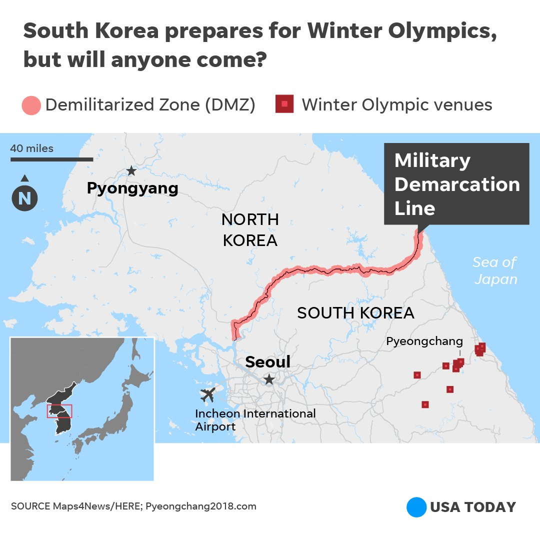 Unpredictable North Korea is scaring off visitors for Winter Olympics.