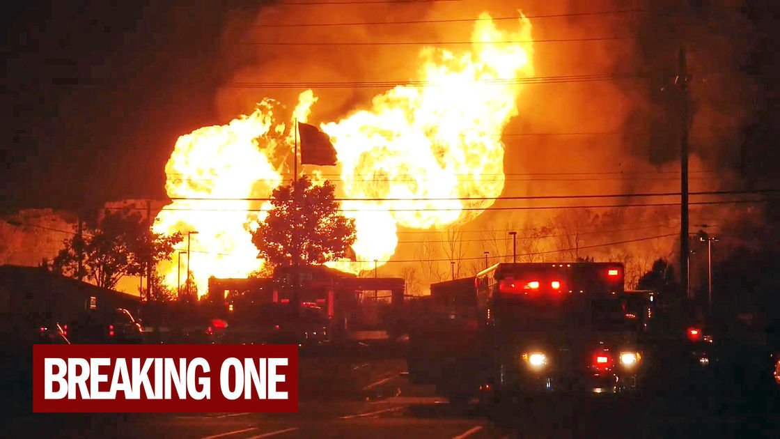 Massive gas line explosion sends fireball shooting into the air in Michigan