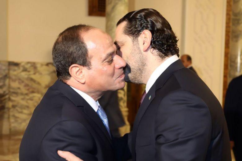 Lebanon's Hariri meets Sisi in Egypt before leaving for home
