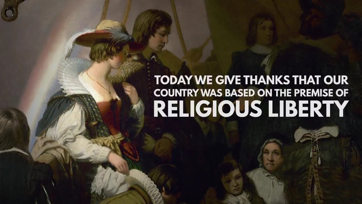 Today we give thanks that our country was based on the premise of religious liberty. Happy Thanksgiving. https://t.co/x3aEaFDWvR