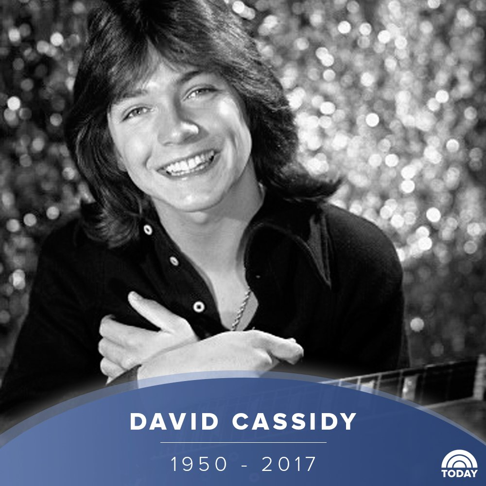 """David Cassidy, star of """"The Partridge Family,"""" has died at age 67."""