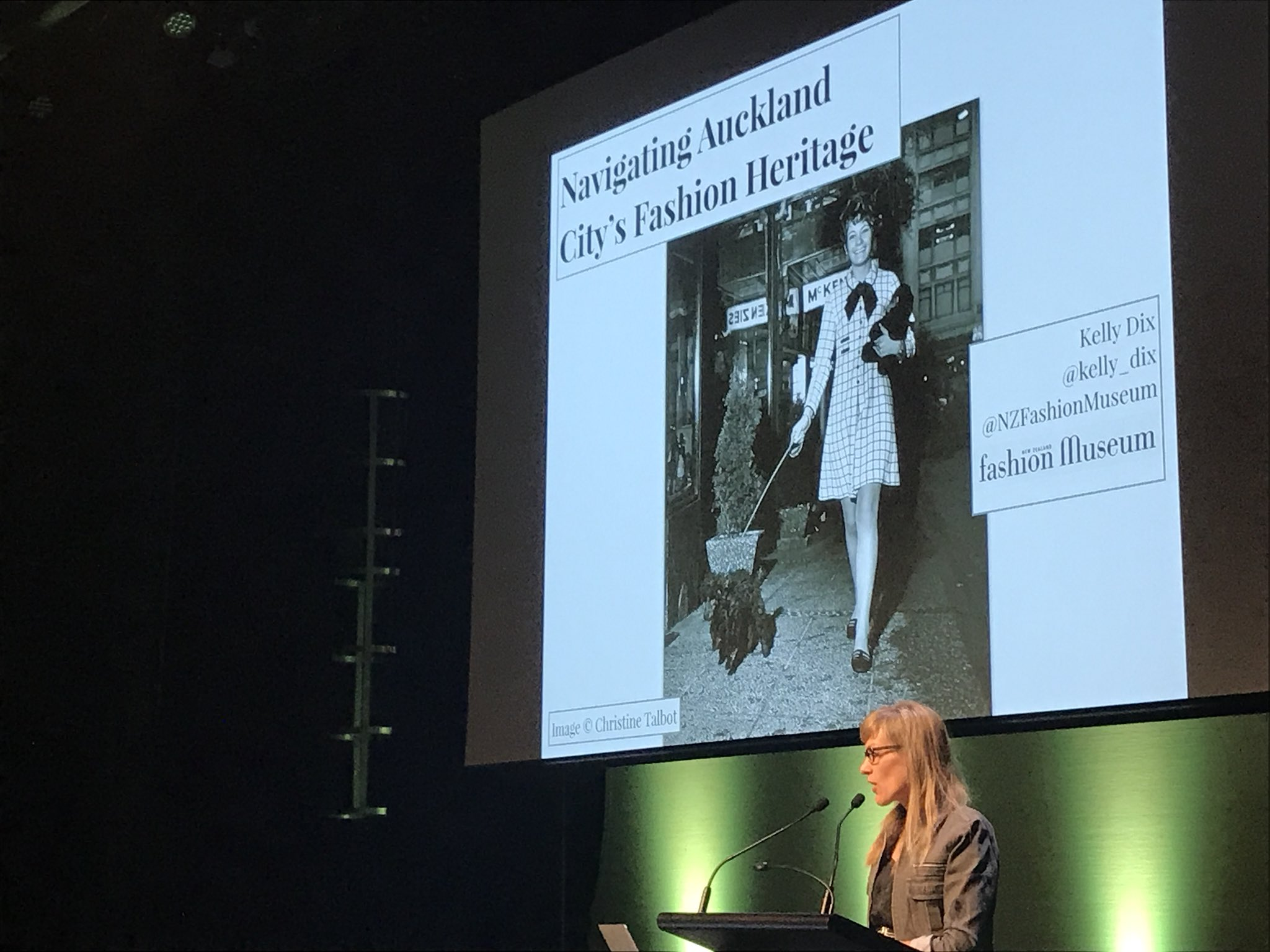 Kelly Dix from the @NZFashionMuseum talking about Walking the Walk #NDFNZ https://t.co/UbnH1fDpwE
