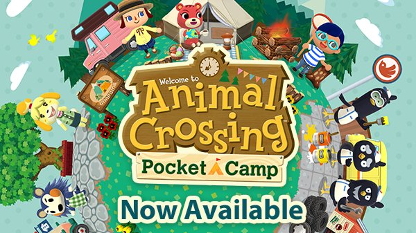 Start growing your campsite today. Animal Crossing: Pocket Camp is now available. #PocketCamp https://t.co/OMeoKwtcum