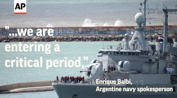 Widening search finds no sign of missing Argentine submarine.